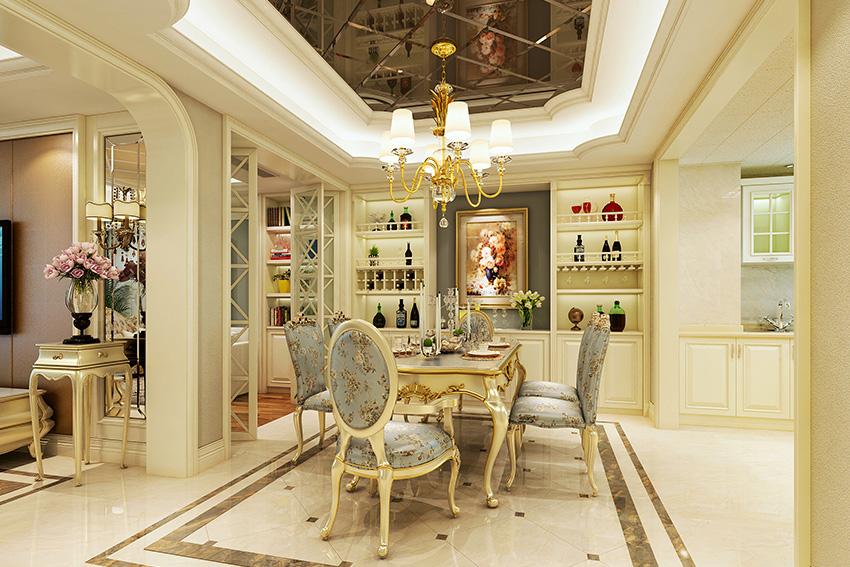 1,在欧式风格的家居空间里,灯饰设计应选择具有西方风情的造型,比如