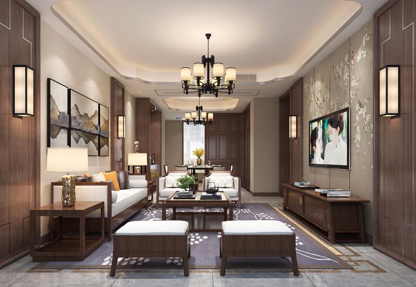 中式装修风格客厅装修效果图